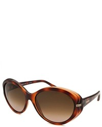 Valentino Cat Eye Dark Havana Sunglasses
