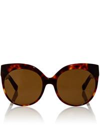 Linda Farrow Cat Eye Sunglasses With Titanium Cage Detail