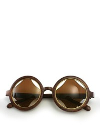 ChicNova Vintage Transparent Frame Sunglasses