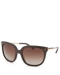 Chloé Chloe Ce642s 210 55 Square Dark Brown Sunglasses
