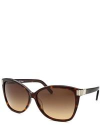 Chloé Chloe Square Dark Havana Sunglasses