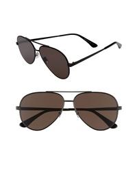 Saint Laurent Classic 60mm Aviator Sunglasses
