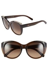 Chloé Dallia 55mm Rounded Cat Eye Sunglasses
