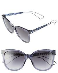 Christian Dior Dior Diorama 3 55mm Cat Eye Sunglasses Black Grey Grey