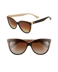 kate spade new york Dshas 56mm Cat Eye Sunglasses