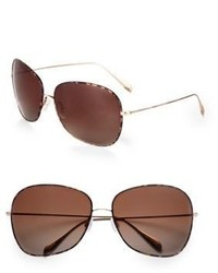 Oliver Peoples Elsie 64mm Oversized Round Sunglassesdark Tortoise