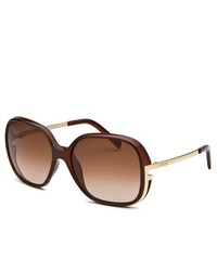 Fendi Square Brown Sunglasses