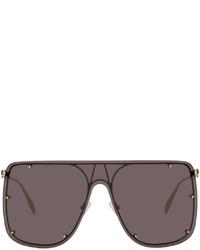 Alexander McQueen Gold Skull Mask Sunglasses