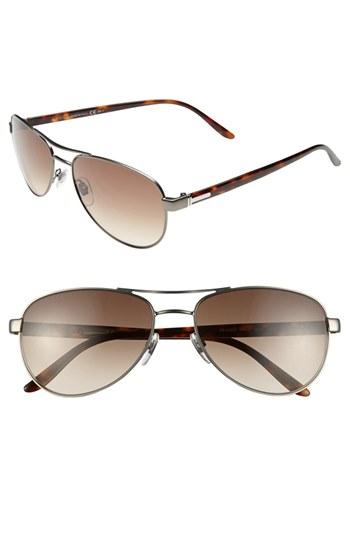 594e4558c3a Gucci 58mm Aviator Sunglasses Semi Matte Dark Ruthenium One Size ...