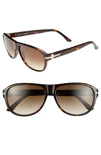 bc968f36e66 ... Gucci 58mm Sunglasses Brown Havana One Size