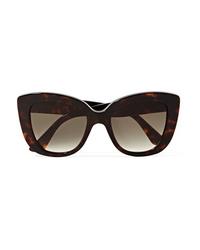 Gucci Havana Cat Eye Tortoiseshell Acetate Sunglasses