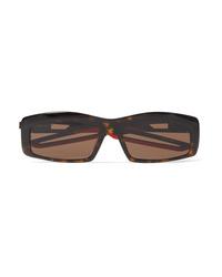 Balenciaga Hybrid Square Frame Tortoiseshell Acetate Sunglasses