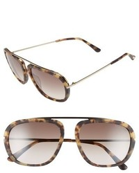 Tom Ford Johnson 57mm Sunglasses Blonde Havana Gradient Brown