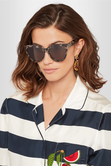 Le Specs Liar Lair Cat Eye Tortoiseshell Acetate Sunglasses