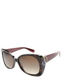Marc by Marc Jacobs Mmj 406 3td Dark Havana Brick Plastic Sunglasses Brown Gradient Lens