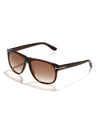 Olivier plastic sunglasses brown medium 189540