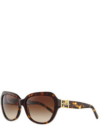 Tory Burch Plastic Cat Eye Sunglasses Dark Tortoise