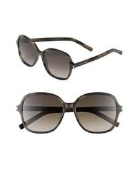Saint Laurent 57mm Oversize Sunglasses Dark Horn One Size