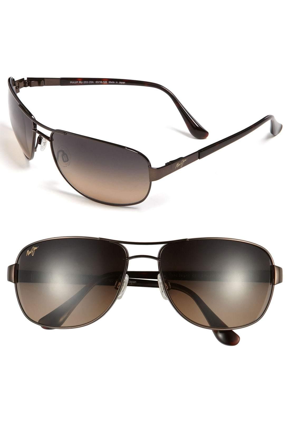 81bf956bed9 ... Dark Brown Sunglasses Maui Jim Sand Island Polarizedplus2 63mm  Sunglasses