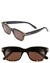 Tom Ford Snowdon 50mm Sunglasses Shiny Black