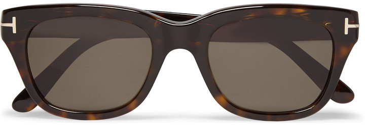 c05010cd65 ... Tom Ford Snowdon Square Frame Tortoiseshell Acetate Sunglasses ...