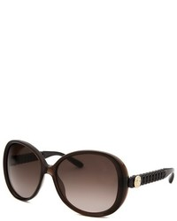 Marc by Marc Jacobs Square Dark Brown Translucent Sunglasses
