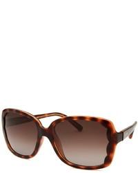 Valentino Square Dark Havana Sunglasses
