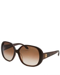 Roberto Cavalli Taj Oversized Dark Havana Sunglasses