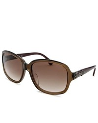 Tod's Rectangle Brown Sunglasses