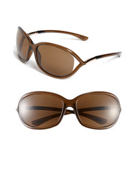 Tom Ford Jennifer 61mm Polarized Sunglasses Dark Brown Polarized One Size