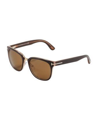 b23851ff1717 ... Tom Ford Rock Clubmaster Sunglasses Shiny Brown