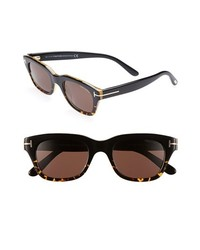 Tom Ford Snowdon 50mm Sunglasses Dark Havana One Size