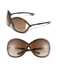 Tom Ford Whitney 64mm Open Side Sunglasses Dark Brown One Size
