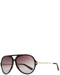 Marc by Marc Jacobs Tortoise Plastic Aviator Sunglasses Dark Brown