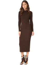 Dark Brown Sweater Dresses for Women | Women's Fashion