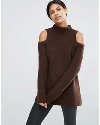 Dark Brown Sweaters For Women Womens Fashion