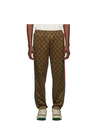 Gucci Brown Classic Logo Lounge Pants