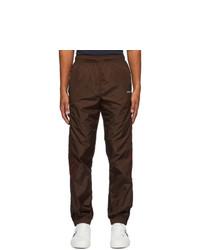 Off-White Brown Nylon Diag Lounge Pants
