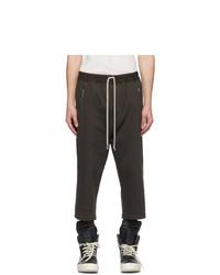 Rick Owens Taupe Cropped Tecuatl Lounge Pants
