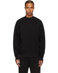 Les Tien Black Mock Neck Raglan Sweatshirt