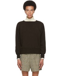 Taiga Takahashi Brown Cotton Sweatshirt