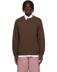 Dries Van Noten Brown French Terry Sweatshirt