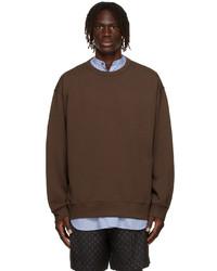 Dries Van Noten Brown Medium Weight French Terry Sweatshirt