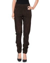 Dark Brown Tapered Pants