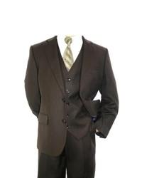 Ferrecci Boys Dark Brown 3 Piece 2 Button Suit