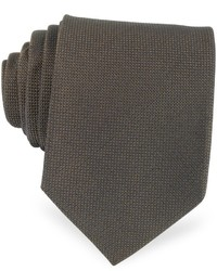 Solid woven silk tie medium 400163