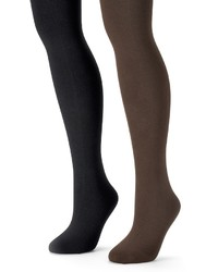 Muk Luks 2 Pk Fleece Lined Tights