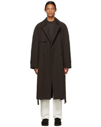 The Row Brown Cotton Omar Trench Coat