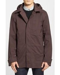 Nau modus waterproof hooded packable trench coat medium 86056