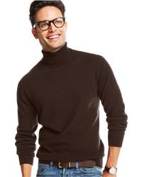 Club Room Cashmere Solid Turtleneck Sweater